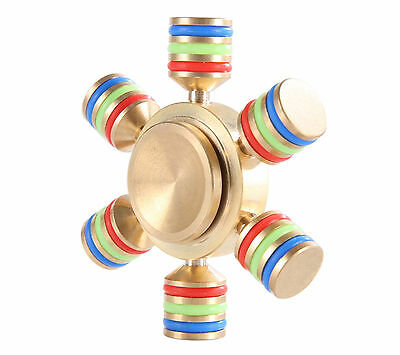 Fidget Spinner Componibile Esagonale Metallo Ottone Antistress top quality