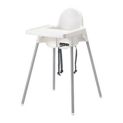 Ikea ANTILOP Baby Children High Chair + Safety Belt,Feeding Tray,Chair Cushion