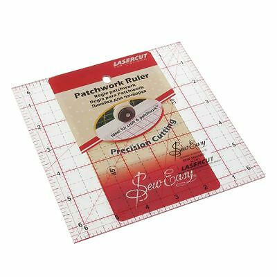 Quilting Rule: Square: 6.5 x 6.5 inch - BRAND NEW - NL4177 - Sew Easy