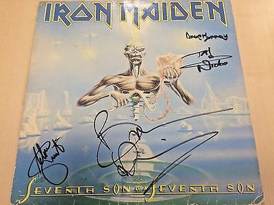Iron Maiden Signed / Autographed Seventh Son Of A Senenth Son Lp In 1988!!