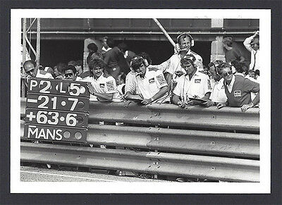 1 B&W photo McLaren pit crew 1984 Dutch F1 GP - MP4/2 Alain Prost winner