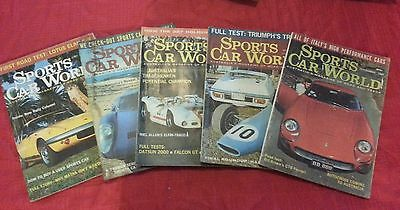 sports car world July to November  1968.vintage car magazines.