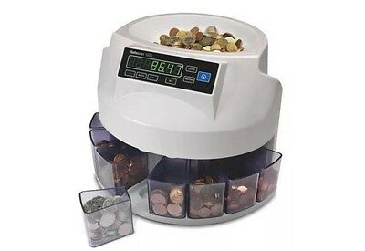 Safescan 1200 AUTOMATIC COIN COUTER AND SORTER CURRENCY VERSION EURO (UK PLUG)