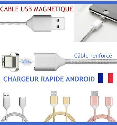 Cable Chargeur Magnetique Usb Micro Pour Android Samsung Galaxy Lg Sony Xperia