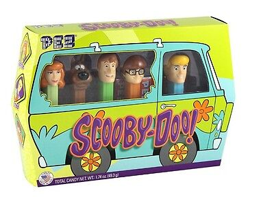 Pez Scooby Doo Gang Set - 5 Dispensers and 6 Rolls Shaggy Fred Velma and Daphne
