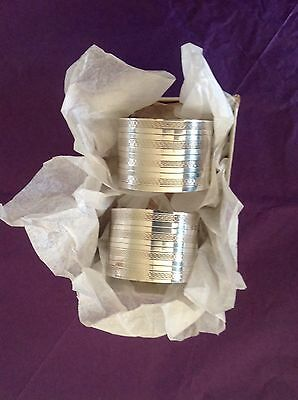 Pair Of Solid Silver Napkin Rings Birmingham 1942