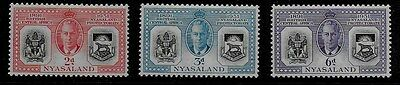Nyasaland 1951 KGVI Diamond Jubilee of Protectorate - MH - SS to 6d