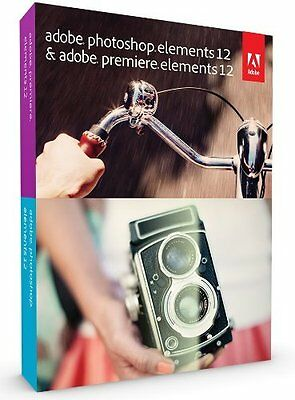 Adobe Photoshop Elements 12 & Premiere Elements 12 New Full Version, for PC/Mac