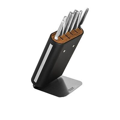 Global Hiro Kitchen Knife Storage Block Rack Holds 6 Knives Universal Holder