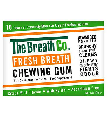 The Breath Co. Fresh Breath Chewing Gum 10 pieces