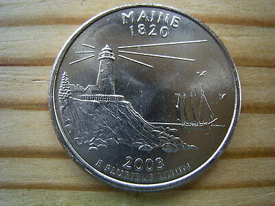 "2003p  usa state  quarter  "" maine "" dollar coin collectable"
