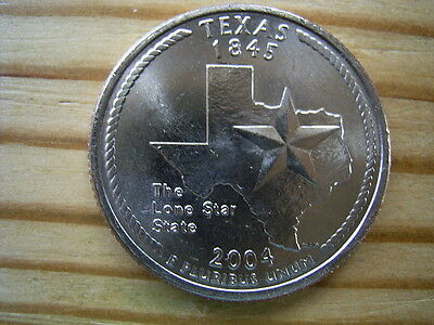 "2004p  usa state  quarter  "" texas "" dollar coin collectable"