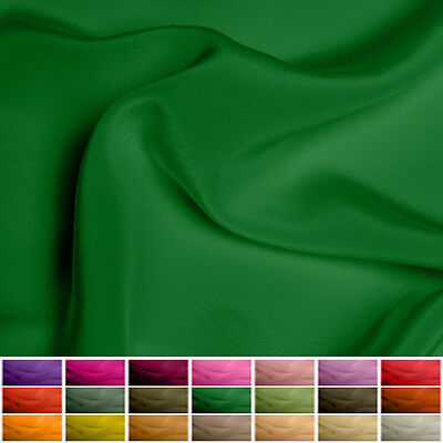 100% Pure Silk fabric Crepe de Chine - 16 mommy - Multiple Colours - 45""