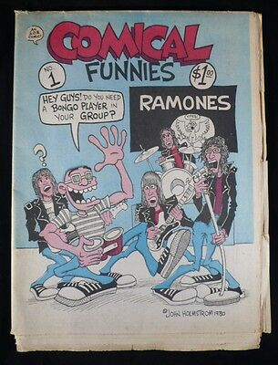 COMICAL FUNNIES #1 by Peter (HATE) Bagge and John (PUNK) Holmstrom Ramones!
