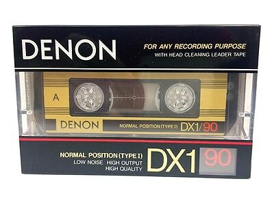 Denon Dx1 90 Blank Audio Cassette Tape New Rare 1987 Year Made