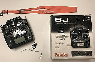Futaba 8J T8J 8-Channel S-FHSS Air System with R2008SB Receiver and Strap in box