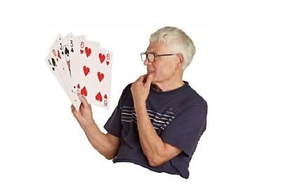 MEGA Decks of Professional Plastic Coated Playing Cards Poker A4 Size XMAS