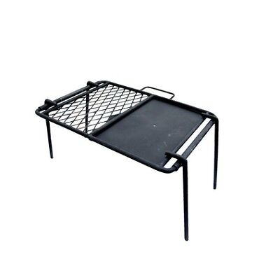 Campfire Mesh Grill and Flat Plate Combo - 43x33cm