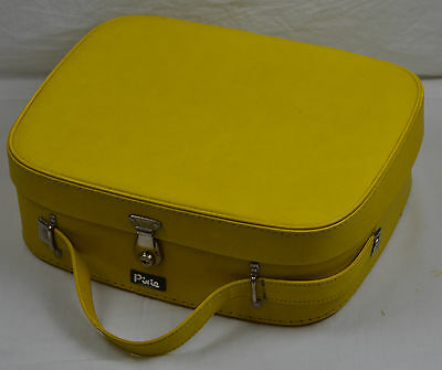 Vintage Retro Pixie 1960s Vanity Travel Case Weekend Bag Mod 60s Yellow Make Up