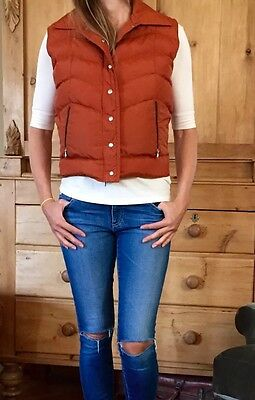 Women's Down Nylon Vest Vintage Small Denver Colorado Brand Festival Boho