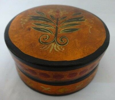Hand painted wooden handcrafted kum kum powder Tika box India