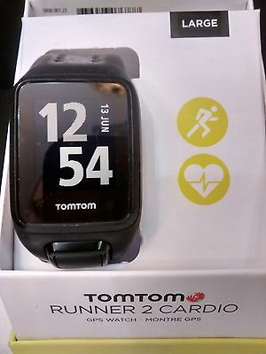 tomtom runner 2 cardio with Black Large Strap, Charger & Instructions