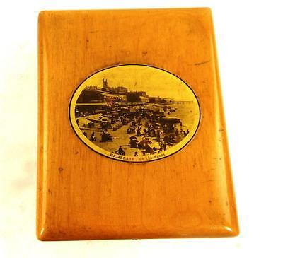 Antique Mauchlineware Pocket Watch Or Medal Box - Ramsgate On The Sands