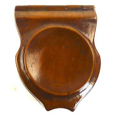 Antique Georgian Regency Wooden Pocket Watch Holder Case Excellent Patina