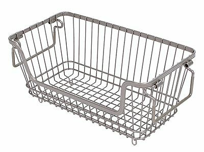 Tidy Living - Small Stackable Wire Basket Silver - Kitchen Bathroom Storage