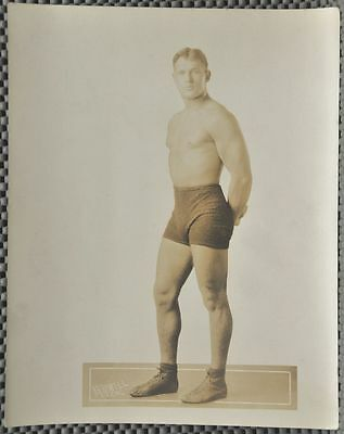 """Very rare Frank Judson 8"""" X 10"""" Sepia tone photograph early 20th Cent. Wrestler"""