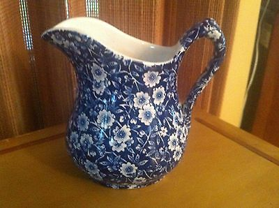 STAFFORSHIRE Crownford -  CALICO BLUE Chintz 14 ounce JUG