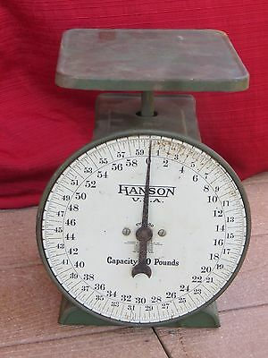 Hanson Scale 60 Pounds Patented Oct. 27, 1925 Orchard Country Store Garden OLD