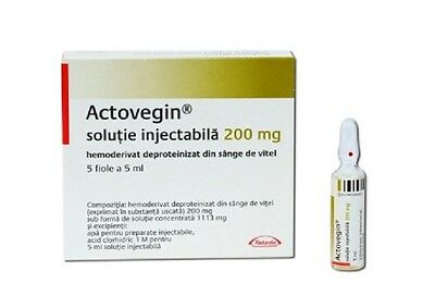 2 x Actovegin 200 mg / 5 ml, 5 ampoules motor and cognition recovery from stroke