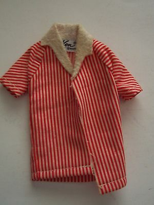 Vintage Original 1960's Ken Doll Red And White Beach Jacket - Good Condition