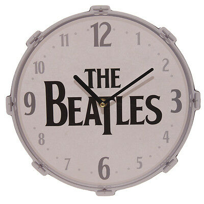 Beatles Drum Picture Wall Clock Logo Officiel Licencié Classic Retro Music Fan