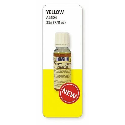 PME Yellow Edible Airbrush Colour 25ml - Cake Decorating and Sugarcraft
