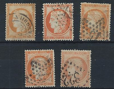 FRANCE 1871-1876 Ceres 40c Selection USED C#003