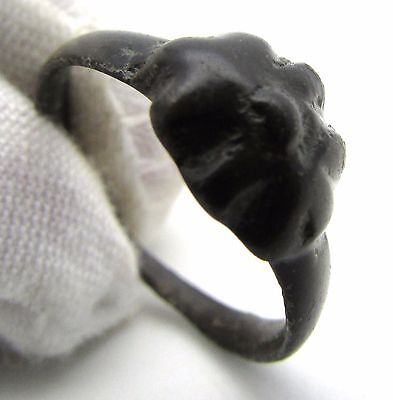 Celtic Bronze Knobbed Ring - Very Rare Ancient Wearable Artifact Historic - H64