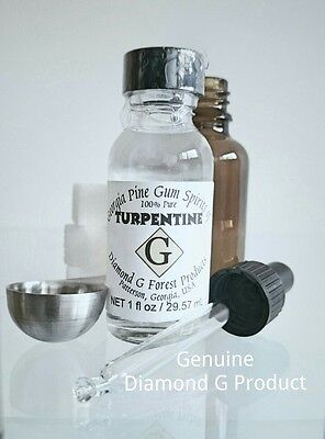 100% Pure Gum Spirits of Turpentine (Organic) by Diamond G Forest + free Dropper