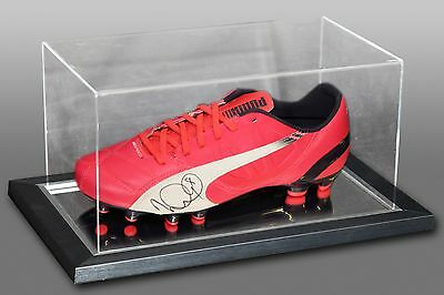 *New* Ian Wright Signed Pink Puma Football Boot Presented In An Acrylic Case