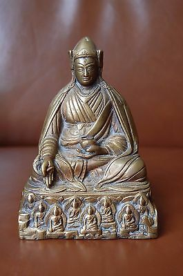 Antique Tibet china Brass Buddha Tibetan India statue sculpture with Hallmark