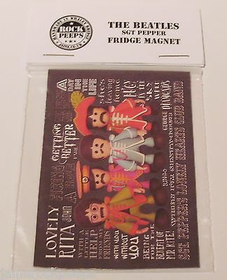 Inspired by Beatles Sgt Pepper's Lonely Hearts Club Fridge Magnet