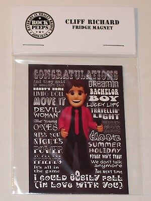 Inspired by Cliff Richard Fridge Magnet
