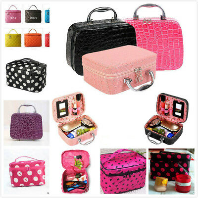 Ladies Cosmetic Bag Make Up Case Travel Toiletry Wash Organiser Beauty Holder