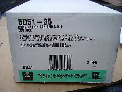New White Rodgers 5D51-35 Fan And Limit Switch - New In The Box
