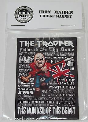Inspired by Iron Maiden Trooper Eddie Fridge Magnet