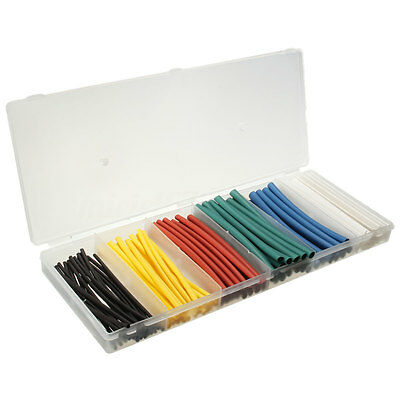 100Pcs Mixed Color Heat Shrink Tube Wire Wrap Electrical Insulation Sleeving New