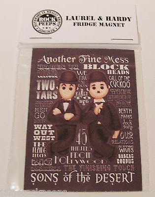 Inspired by Stan Laurel & Oliver Hardy Fridge Magnet