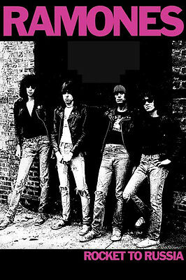 Ramones Rocket to Russia Poster! Band photo Black and White UK USA Never Hung