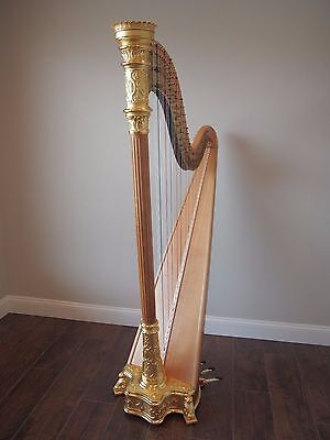 1928 Gold Lyon & Healy Style 16 Semi-Grand Pedal Harp S/N 3153 Fully Restored